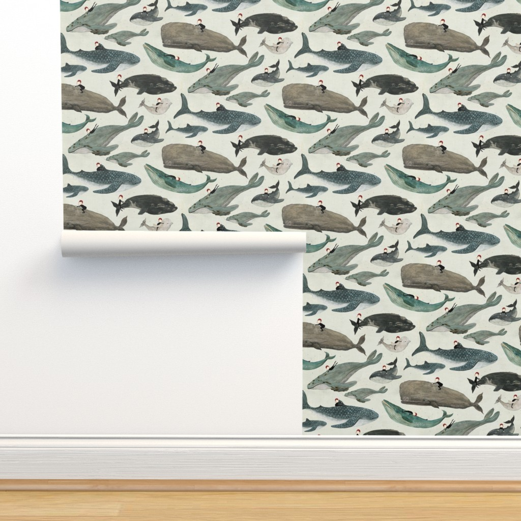 Isobar Durable Wallpaper featuring The whale rider {small} by katherine_quinn