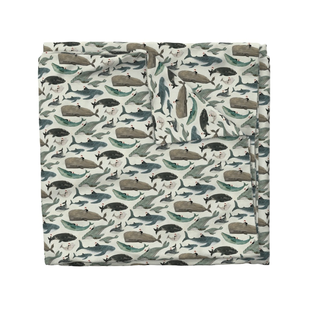 Wyandotte Duvet Cover featuring The whale rider {small} by katherine_quinn