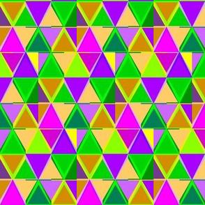 Mardi Gras Triangle Stripes
