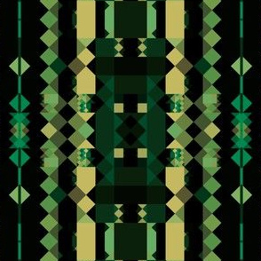 Forest Greens Tribal Stripe