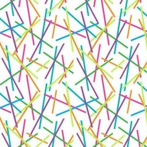 Retro Colored Sticks, Candy Sprinkles, Birthday Decor
