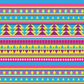 Neon 80s Tribal Pattern