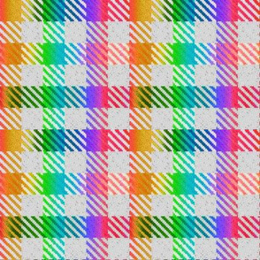 Tri Color Rainbow Gradient Gingham