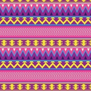 Pink, Yellow and Purple Geometric Stripes