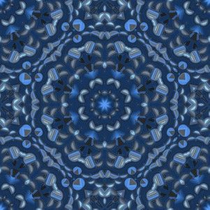 Night Sky Blue Kaleidoscope