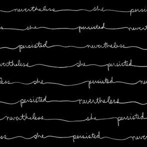 Persisting Stripes (White Text on Black)