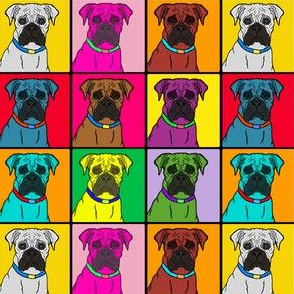 Boxer Dogs Warhol Style