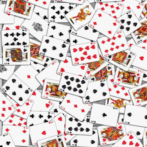 Playing cards Pattern 2.6 x 3.7 - Black Backs