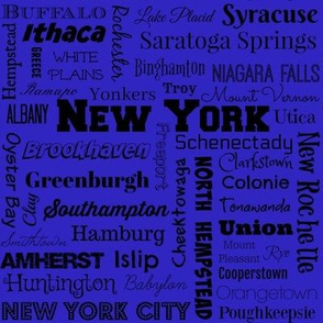 New York cities, blue and black