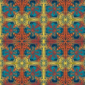 Cross Tile Teal