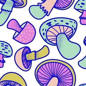 Retro Mushrooms Light