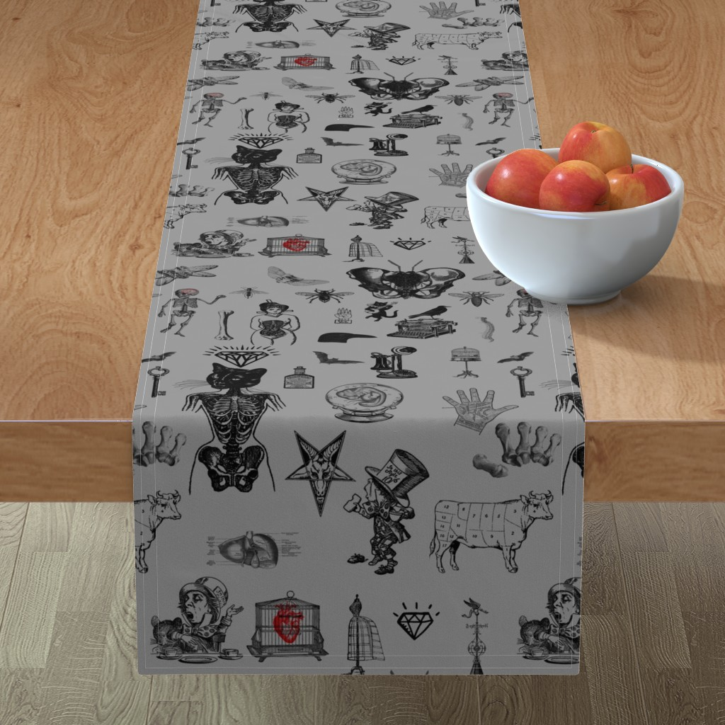 Minorca Table Runner featuring Apothecary by mandamacabre