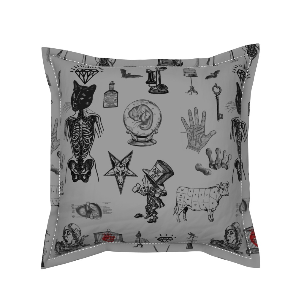Serama Throw Pillow featuring Apothecary by mandamacabre