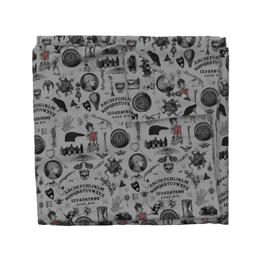 Wyandotte Duvet Cover featuring Apothecary by mandamacabre