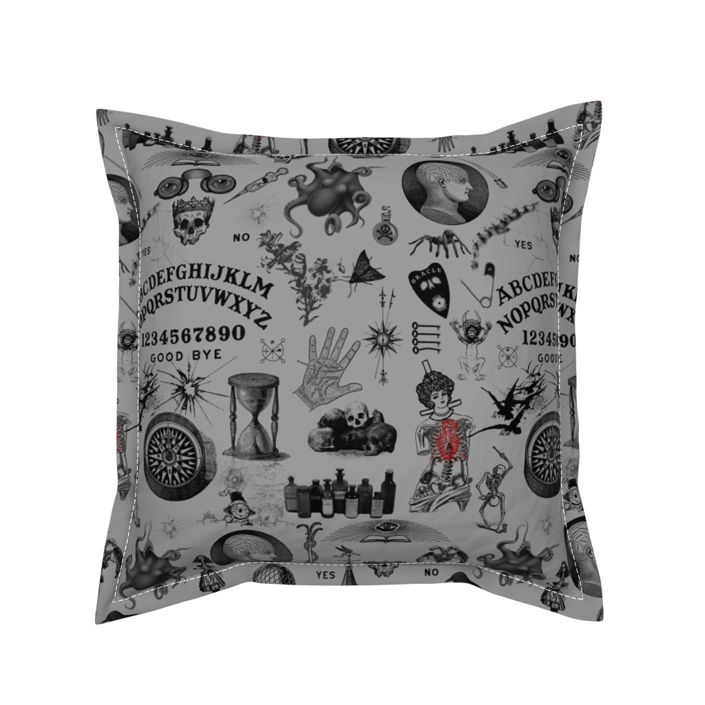 Serama Throw Pillow featuring Apothecary by mandamacabre