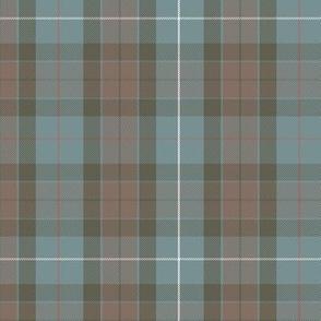 "reversed Fraser hunting tartan,  6"",  red stripe"