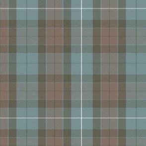 "reversed Fraser hunting tartan, 6"", spruce stripe"