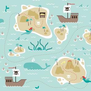 Pirate treasure map