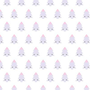 Kawaii love adorable christmas tree winter forest woodland cuteness japan lovers design lilac pink