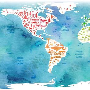 worldmap (blue sea)