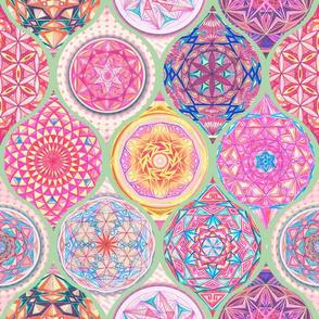 12 Hand Drawing Mandalas Pattern Blue
