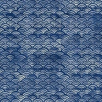 black blue fabric golden Seigaiha Seigaiha Japanese fabric Seigaiha gold black blue background -50cm Japanese fabric Seigaiha fabric Japanese fabric