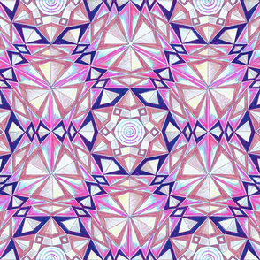 6Star Triad Hand Drawing Geometric Pattern