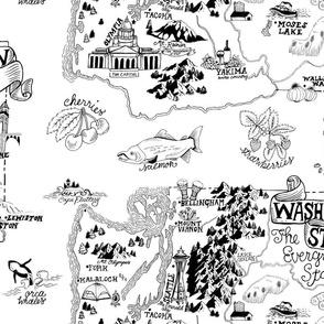 Washington Illustrated Map