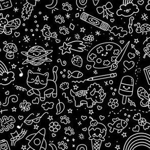 Oodles of Doodle on Black