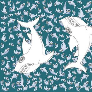 Shark - colour-cut-and-sew cushion