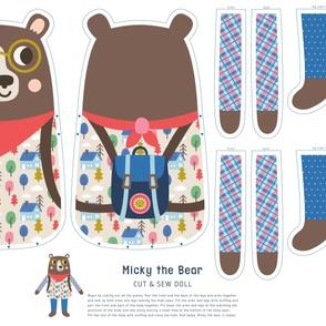 Micky the Bear Cut & Sew Doll