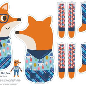Frankie the Fox Cut & Sew Doll