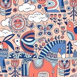 Swedish Folk Art Color 1