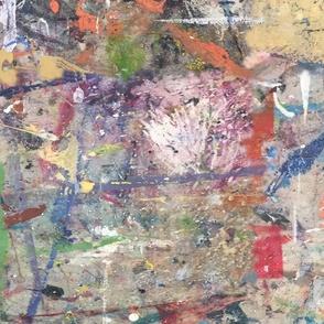 #3 Paint Abstract  Graffiti Grunge || White orange blue yellow red || Distressed Modern spots dots grunge