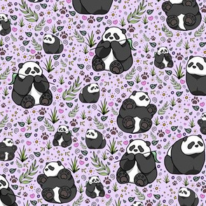 Pandas on Purple