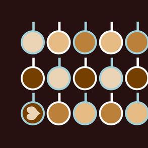 Coffee Love Tea Towel Fat Quarter Project