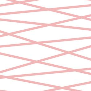Angled Pink Stripes - Large