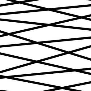 Angled Black Stripes - Large