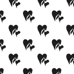 Black & White Hearts
