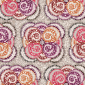 Hand Drawn Bohemian Swirls
