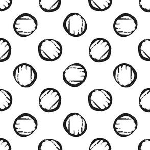 Black & White Textured Circles