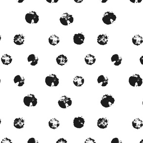 Black Grunge Polka Dots