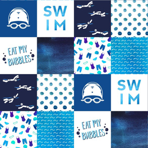 Swimming Faux Quilt (left-right)