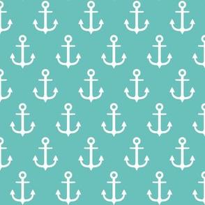 anchors on aqua
