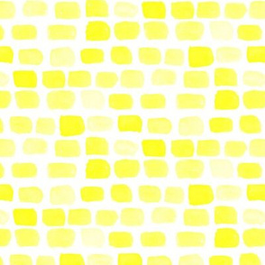 16-13 Lemon Yellow Sun Summer spots watercolor || Abstract dots stones brick rock wall _ Miss Chiff Designs