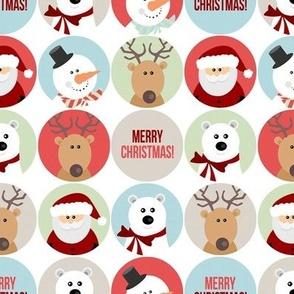 Cute Christmas Character Circles