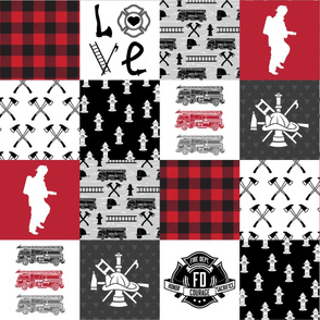 Firefighter Faux Quilt - Special Edition #2 (Horizontal)