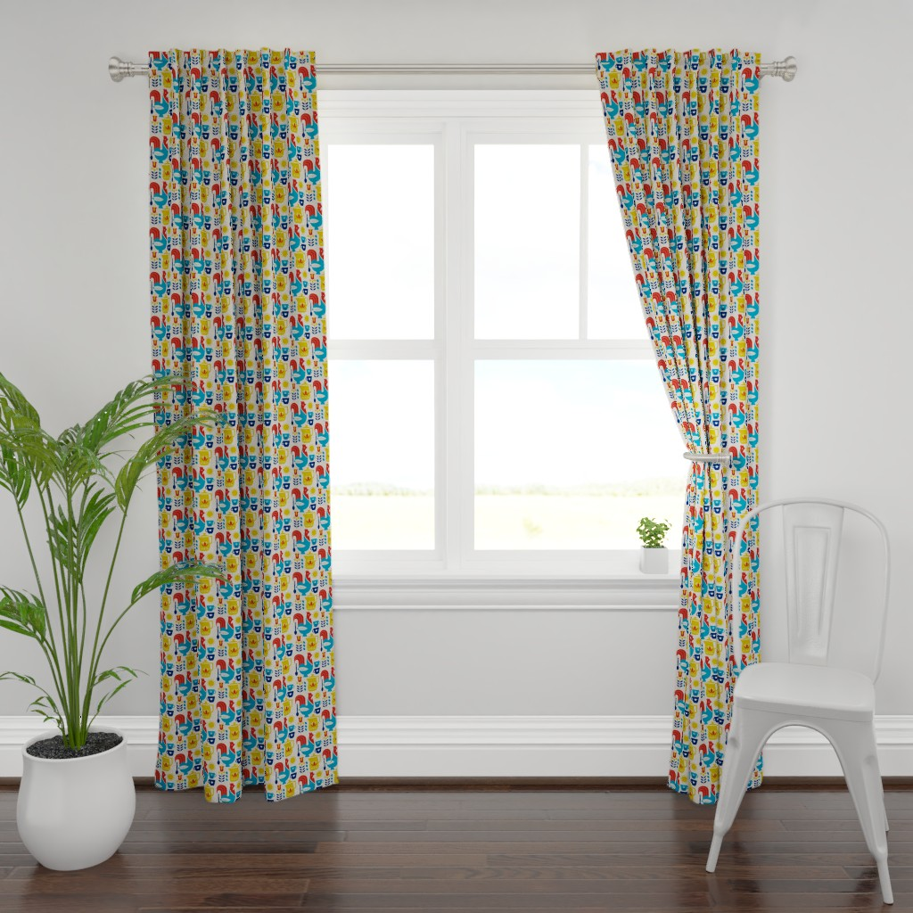 Plymouth Curtain Panel featuring Morning Kaffe by cindylindgren