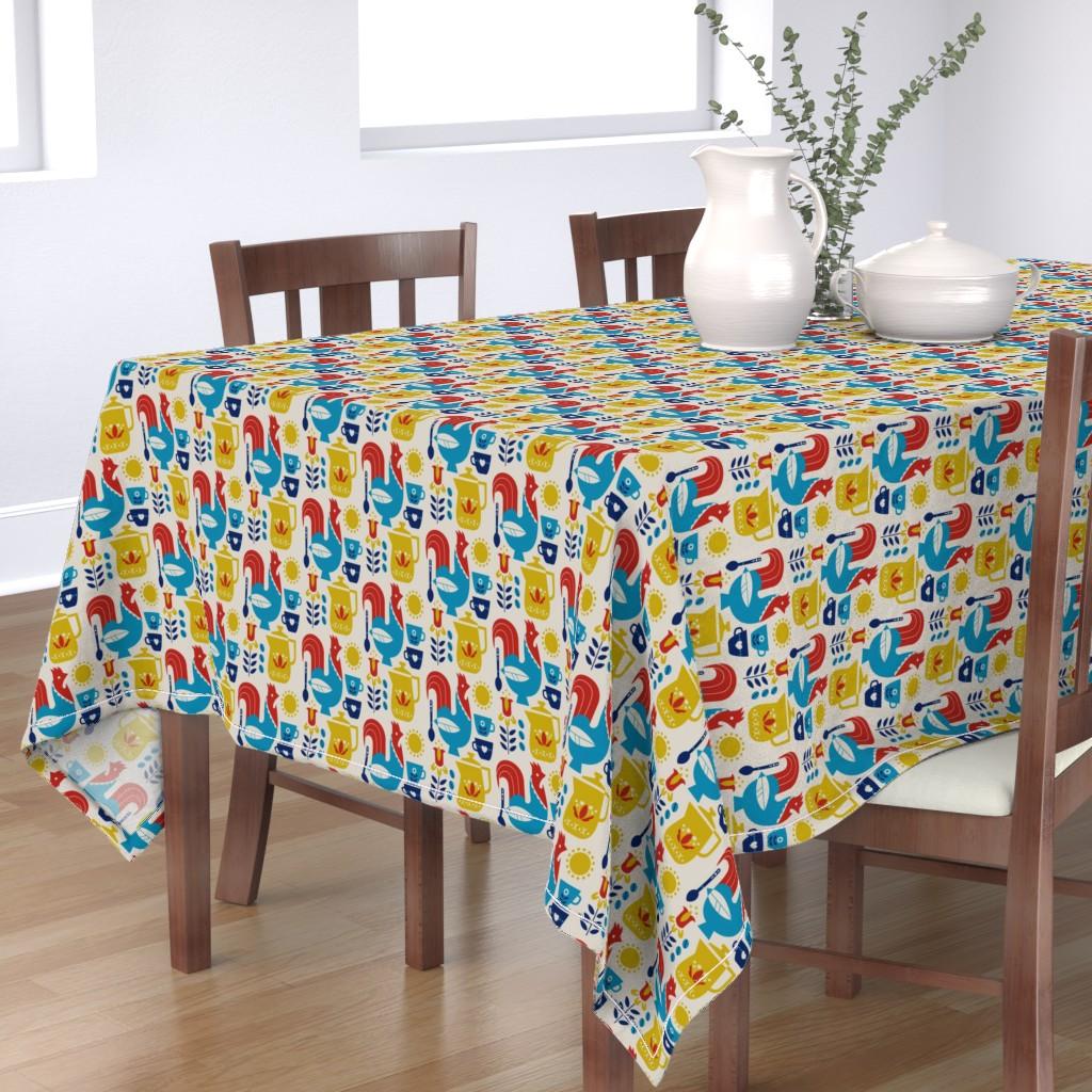 Bantam Rectangular Tablecloth featuring Morning Kaffe by cindylindgren