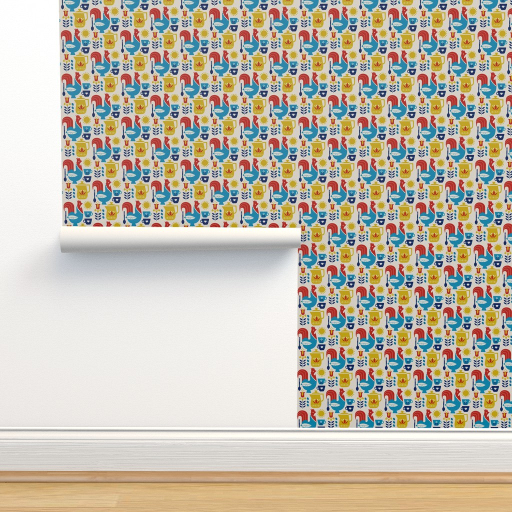 Isobar Durable Wallpaper featuring Morning Kaffe by cindylindgren